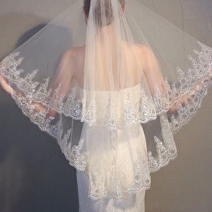 Off-White Wedding Veil